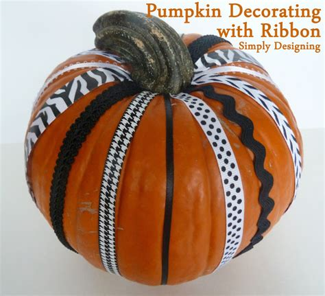 decorating with ribbon pumpkin decorating with ribbon