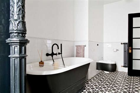 White And Black Bathrooms by Black And White Bathroom Tile Flooring Ideas Home