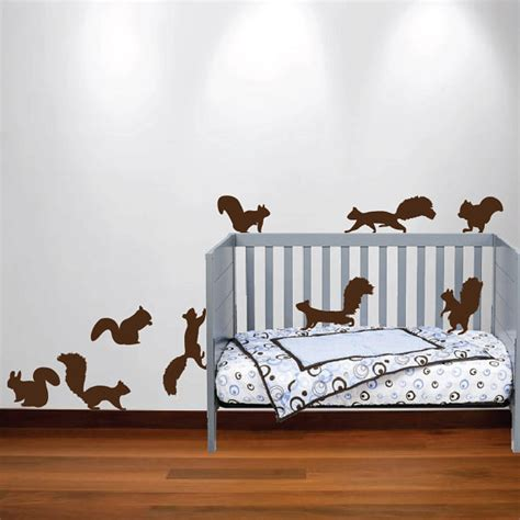 wall nursery decals squirrel chipmunk wall decal nursery sticker set forest