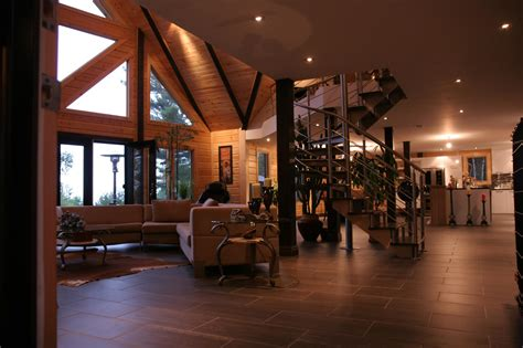 modern log home interiors a modern day log home absolutely timber block