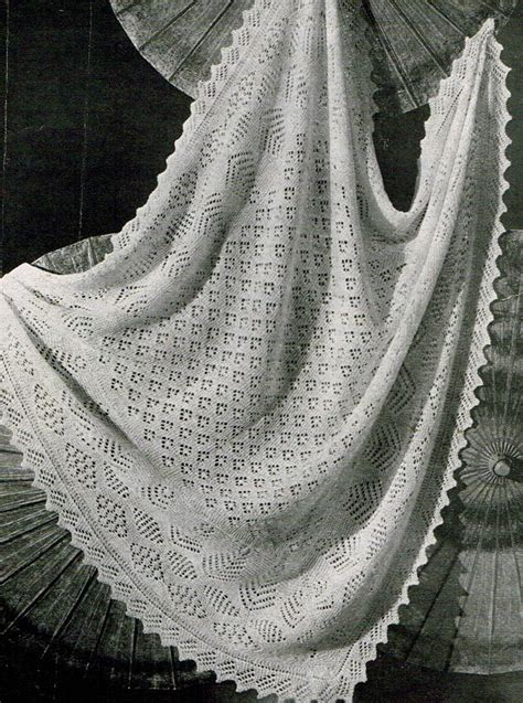 christening shawl knitting pattern vintage knitting pattern shetland lace baby christening