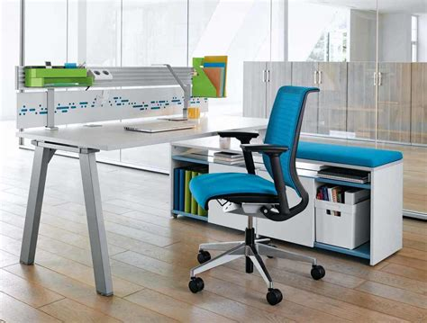 ergonomic home office desk best blue ergonomic office chairs with white desk in wood