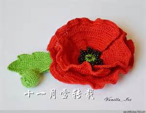 how to knit a poppy flower 25 best ideas about crochet poppy on crochet