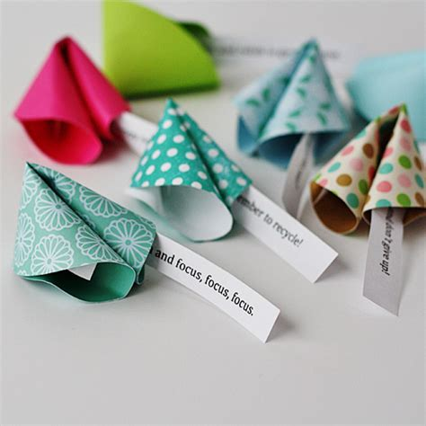 new year paper crafts paper fortune cookie messages make fortune cookies from paper
