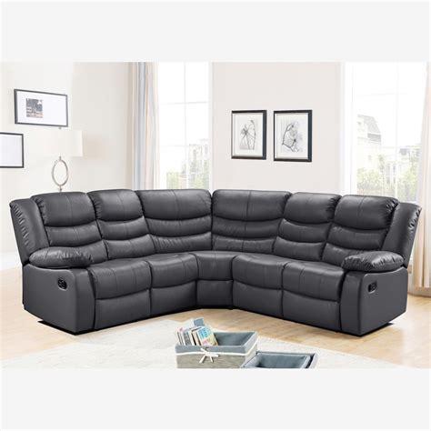 recliner corner sofa belfast corner sofa with recliner in grey bonded leather