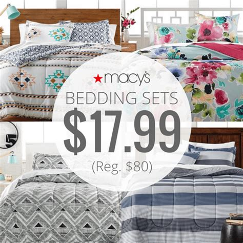 macys bedding macy s 3 bed in bag bedding sets only 17 99