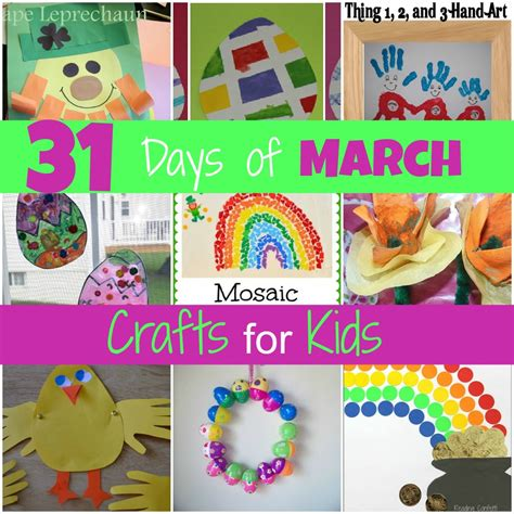 march arts and crafts for easter activities for toddlers
