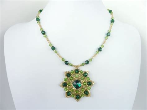 bead pendant patterns free beading pattern for rivoli necklace