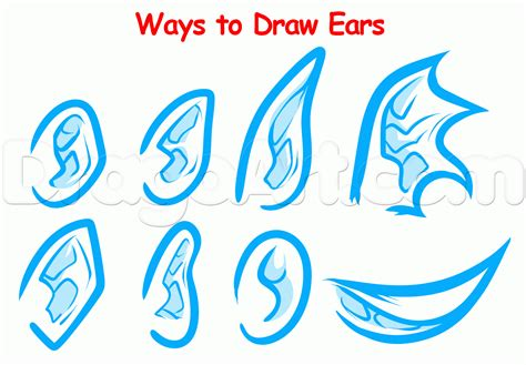 how to draw for beginners how to draw ears for beginners step by step ears