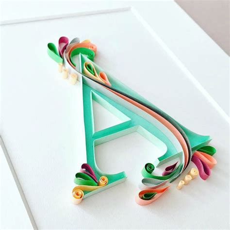 new paper crafts 25 best ideas about quilling letters on paper
