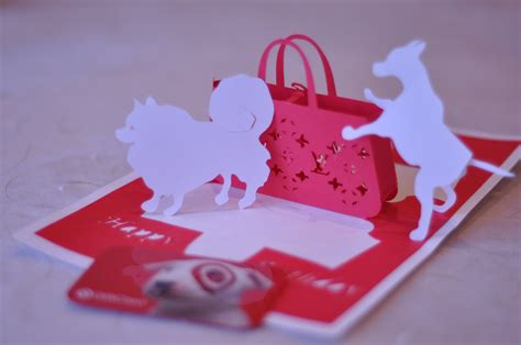 popup card gift purse pop up card template