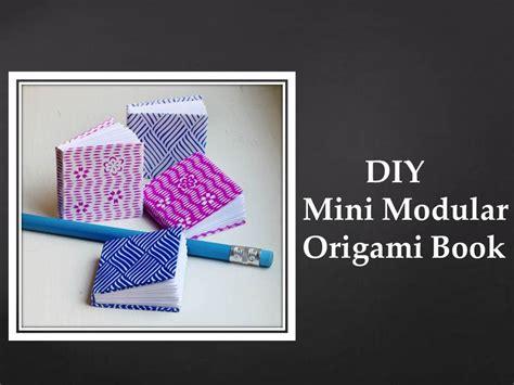 modular origami book diy mini modular origami book easy
