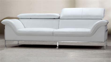 canape design cuir 2 places shawn blanc mobilier cuir