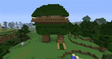 cool tree minecraft awesome tree house