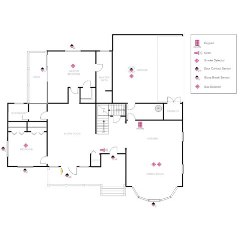 house layout program house plan with security layout