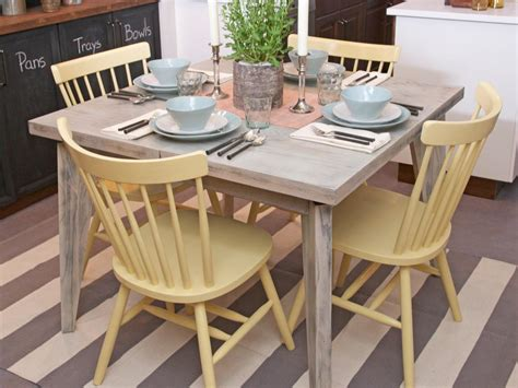 spray paint kitchen table pale yellow painted wooden kitchen chairs and distressed