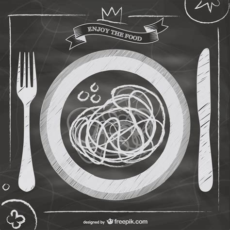 blackboard italian food menu vector free download