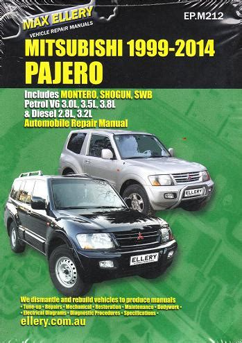 auto repair manual online 1998 mitsubishi pajero user handbook 1999 2014 mitsubishi pajero montero shogun repair manual