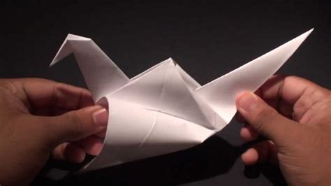 how to make an origami crane that flaps its wings how to make a origami paper flapping crane bird