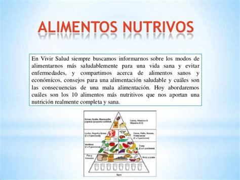 alimentos que no son nutritivos los alimentos nutritivos