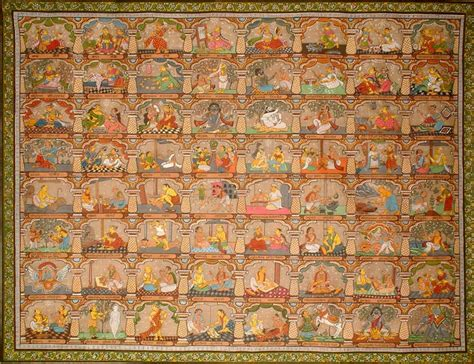kamsutra book in pictures the sixty four kalas of hindu pantheon from the