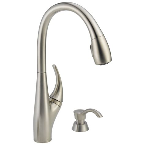 delta pull kitchen faucet delta 19912 sssd dst deluca single handle pull kitchen faucet stainless ebay