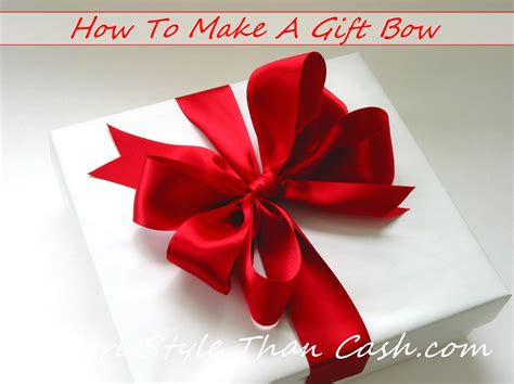 how to make a ribbon bow for a card make a gift bow