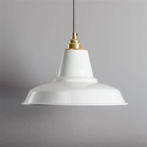 white industrial pendant light industrial pendant light by bare bones lighting