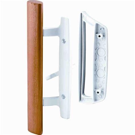patio door handle home depot prime line patio door handle set with wooden handle white
