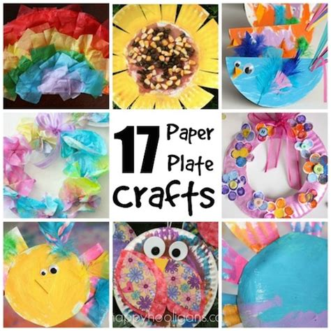 craft made of paper 17 easy paper plate crafts for happy hooligans