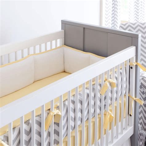 bumpers for baby crib gray and yellow zig zag crib bumper carousel designs
