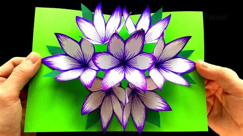 how to make pop up flower card how to make 3d flower pop up card craft ideas