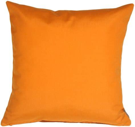orange cusions sunbrella tangerine orange 20x20 outdoor pillow from