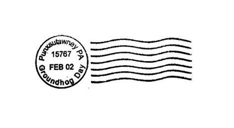 postal cancellation rubber st groundhog day cancellation postal marks punxsutawney pa