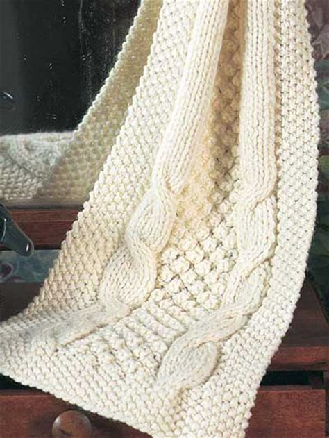 cable knit scarf pattern free free accessory knitting patterns popcorn cables scarf
