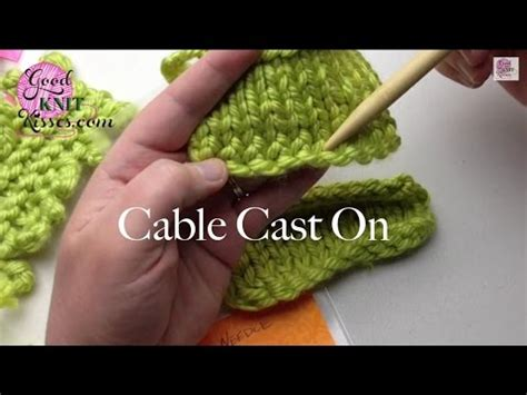 cable cast on knitting cable cast on knitting on needles