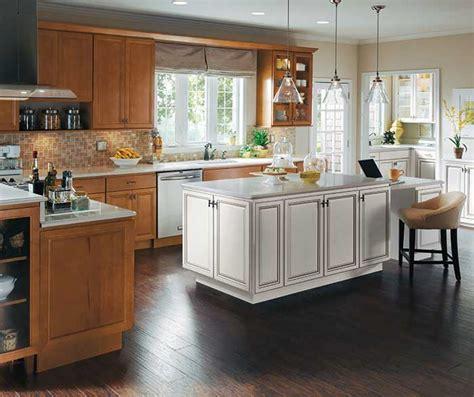 kitchen islands cabinets maple wood cabinets with white kitchen island homecrest