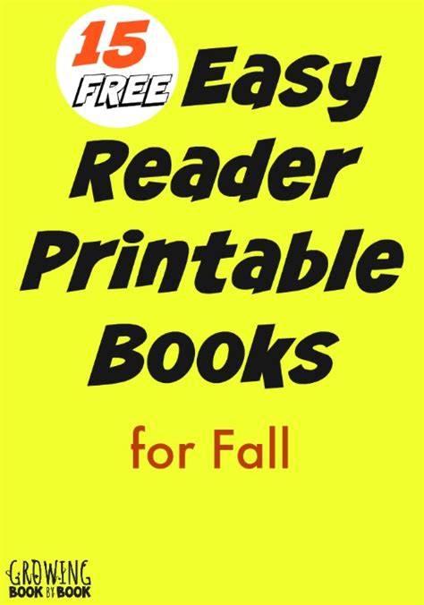 easy picture books fall easy reader printable books for