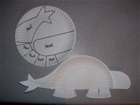dinosaur paper plate craft make it with supplies for a