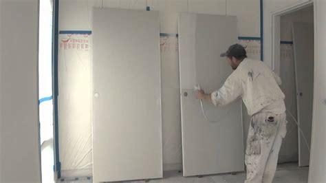 spray painting exterior doors spray painting a door using a graco airless spray gun or