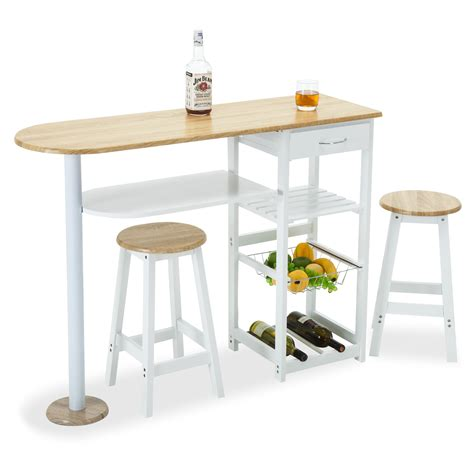 movable kitchen islands with stools kitchen island cart trolley portable rolling storage table 2 stools drawer ebay