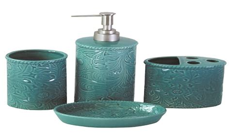bathroom vanity accessory sets turquoise bathroom modern bathroom accessories sets