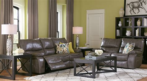 grey leather living room furniture home gray leather 5 pc living room