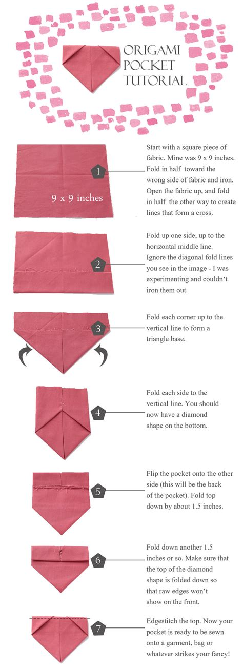 origami pocket pocket origami gallery craft decoration ideas