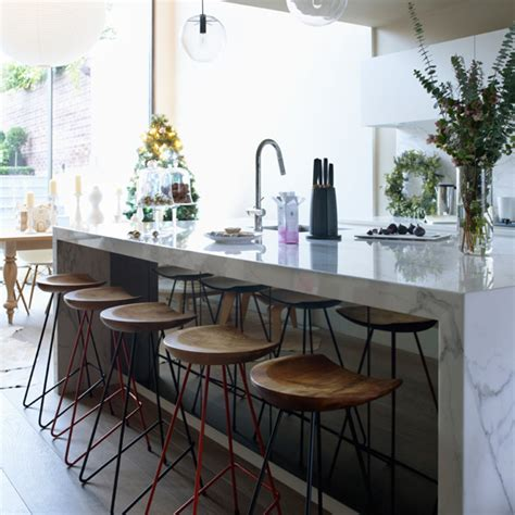 marble kitchen islands modern kitchen with white marble island modern decorating ideas ideal home