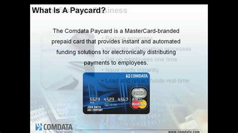 what is card comdata mastercard paycard overview