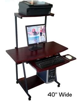40 inch computer desk s40 40 quot computer desk with tower printer shelf