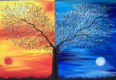 paint nite date opposites attract painting date or bff the