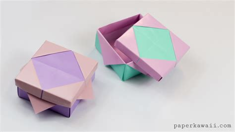 origami for origami masu box variation tutorial paper kawaii