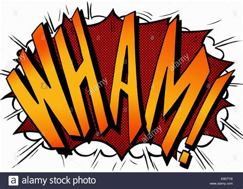 comic book picture effect wham comic book text sound effect stock photo royalty
